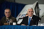 Joseph Dunford and Michael Pence 180221-D-SW162-1182 (26536822698).jpg