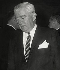 Joseph M. Barr of Pittsburgh greet Mayo at the U.S. Conference of Mayor's Congressional Reception January 21 in the Mayflower Hotel, Washington (12775125494).jpg