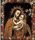 São José é apresentado pela Igreja Católica como modêlo de castidade (Cuzco, séc. XVIII)