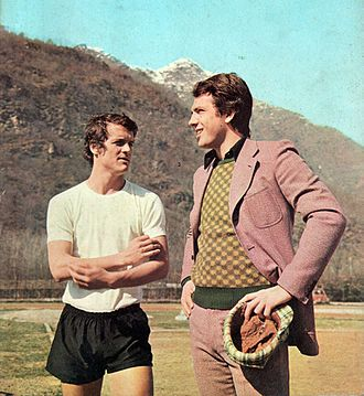 Roberto Bettega - Bettega (right) at Juventus in 1972, during his period of enforced rest, talks with Fabio Capello.