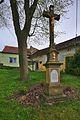 Kříž uprostřed vesnice, Krhov, okres Blansko.jpg