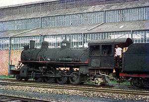 South African Katanga Mikado 2-8-2 - No. 206 at Lubumbashi, 2 February 1972