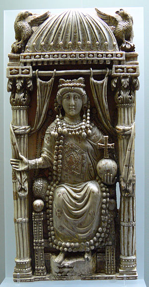 Zeno (emperor) - Relief of Ariadne, elder daughter of Emperor Leo I and wife of Zeno.