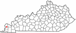 Location of Blandville, Kentucky