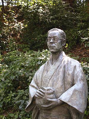 Kyōka Izumi - Statue of Kyōka in Kanazawa.