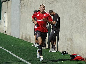 Olympique Lyonnais - Former Lyon player Karim Benzema training at the Centre Tola Vologe.