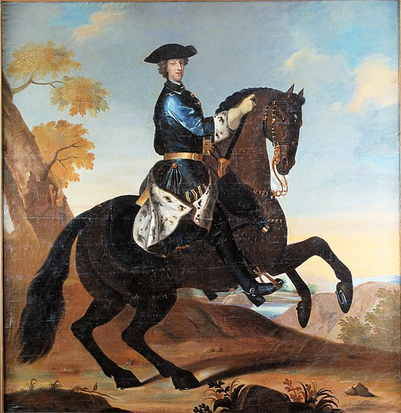 Bestand:Karl XII at horse.jpg