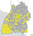 Karte Gemeinden Baden-Württemberg Dezember 2010 Artikel alswiki.png