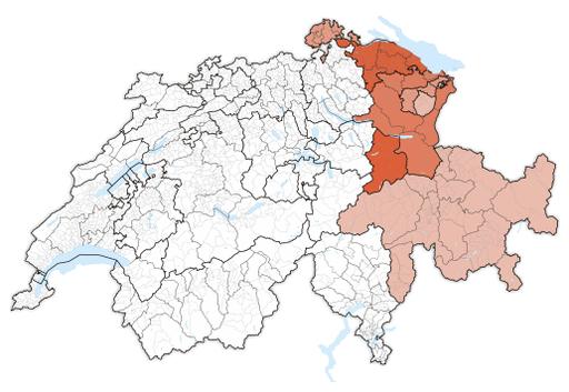Karte Ostschweiz 2017