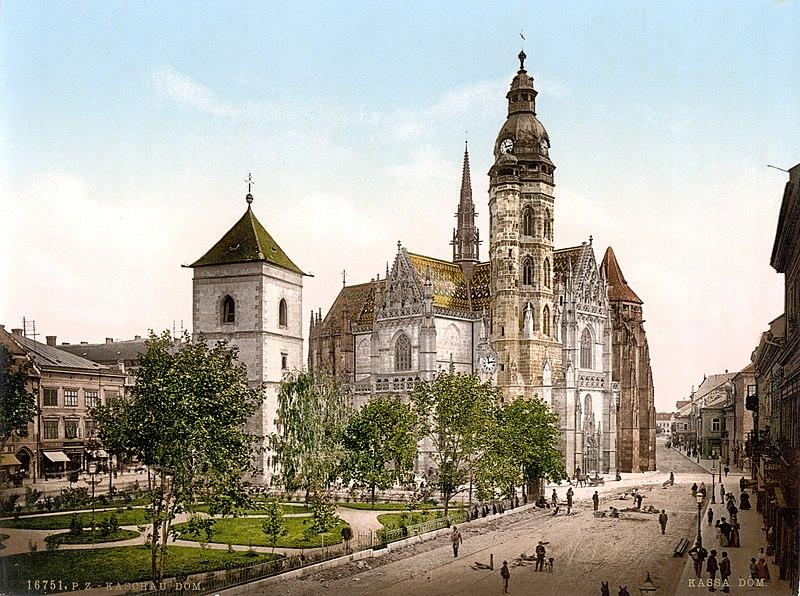 Datei:Kaschau Dom um 1900.jpg