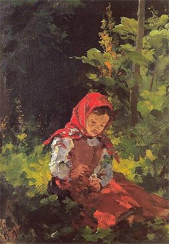 Kazimierz Alchimowicz - Image: Kazimierz Alchimowicz Dziewczynka w lesie