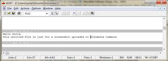 XEDIT - Keditw 1.6.1 screenshot