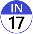 Keio IN17 station number.png