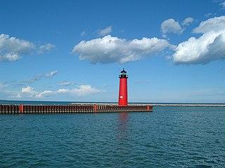 Kenosha North Pier Light lighthouse in Wisconsin, United States