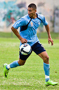 Kerem Bulut playing for the Sydney FC youth team in 2010