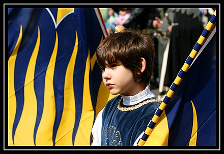 Kid dressed-up for the Palio Kid at Palio of Ferrara.jpg