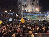 Maidan Nezalezhnosti during the Orange Revolution (2004).