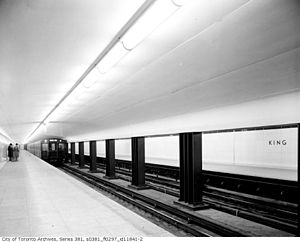 King station - Interior of the station on opening