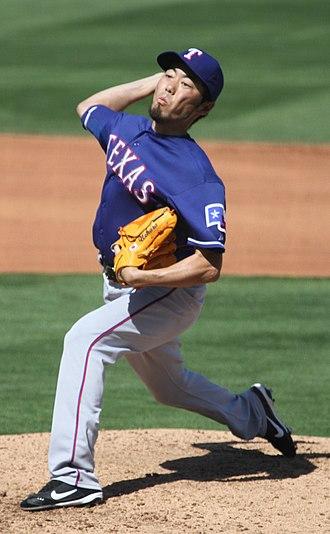 Koji Uehara - Uehara pitching for the Texas Rangers in 2012