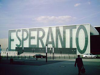 Zamenhof-Esperanto object - Hotel Esperanto Kongress- / Kulturzentrum in Fulda (built in 2005)