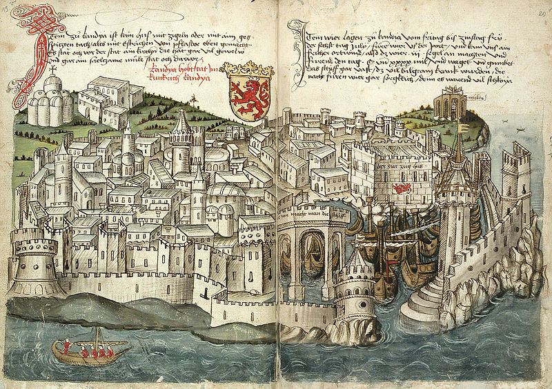 File:Konrad von Grünenberg - Beschreibung der Reise von Konstanz nach Jerusalem - Blatt 19v-20r.jpg