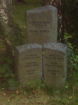 Konrad Maurer - Konrad Maurer's grave in Munich