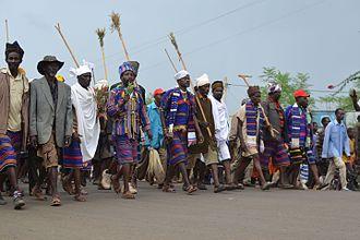 Konso people - Peaceful demonstration in Karat town