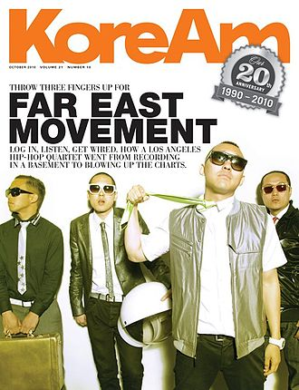 Far East Movement - On the cover of KoreAm, October 2010