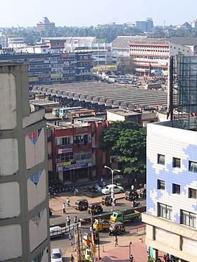 Kozhikode Mavoor Road Bus Stand, a distant view..jpg