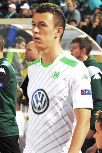 Ivan Perišić - Perišić appearing for Wolfsburg in a UEFA Europa League game against Krasnodar on 23 October 2014