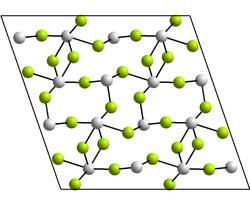 Kristallstruktur von Zinn(II)-fluorid