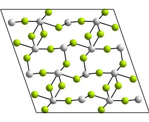 Tin(II) fluoride - Image: Kristallstruktur Zinn(II) fluorid