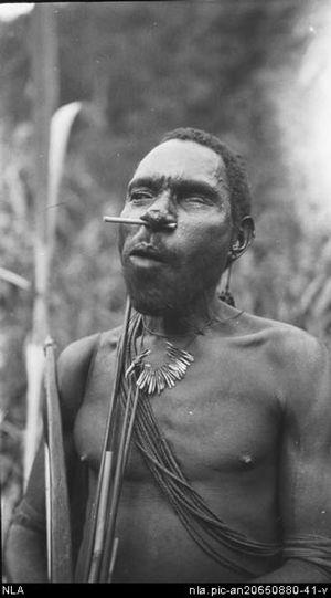 Angu - A Kukukuku man from a 1931 expedition into Papua New Guinea