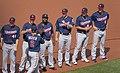 Kyle Gibson, Taylor Rogers, Brian Dozier, Fernando Rodney, Ryan Pressly , Eduardo Escobar, Tyler Kinley (27234071248).jpg