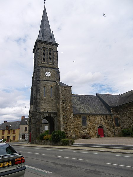 L'eglise de saint-domineuc