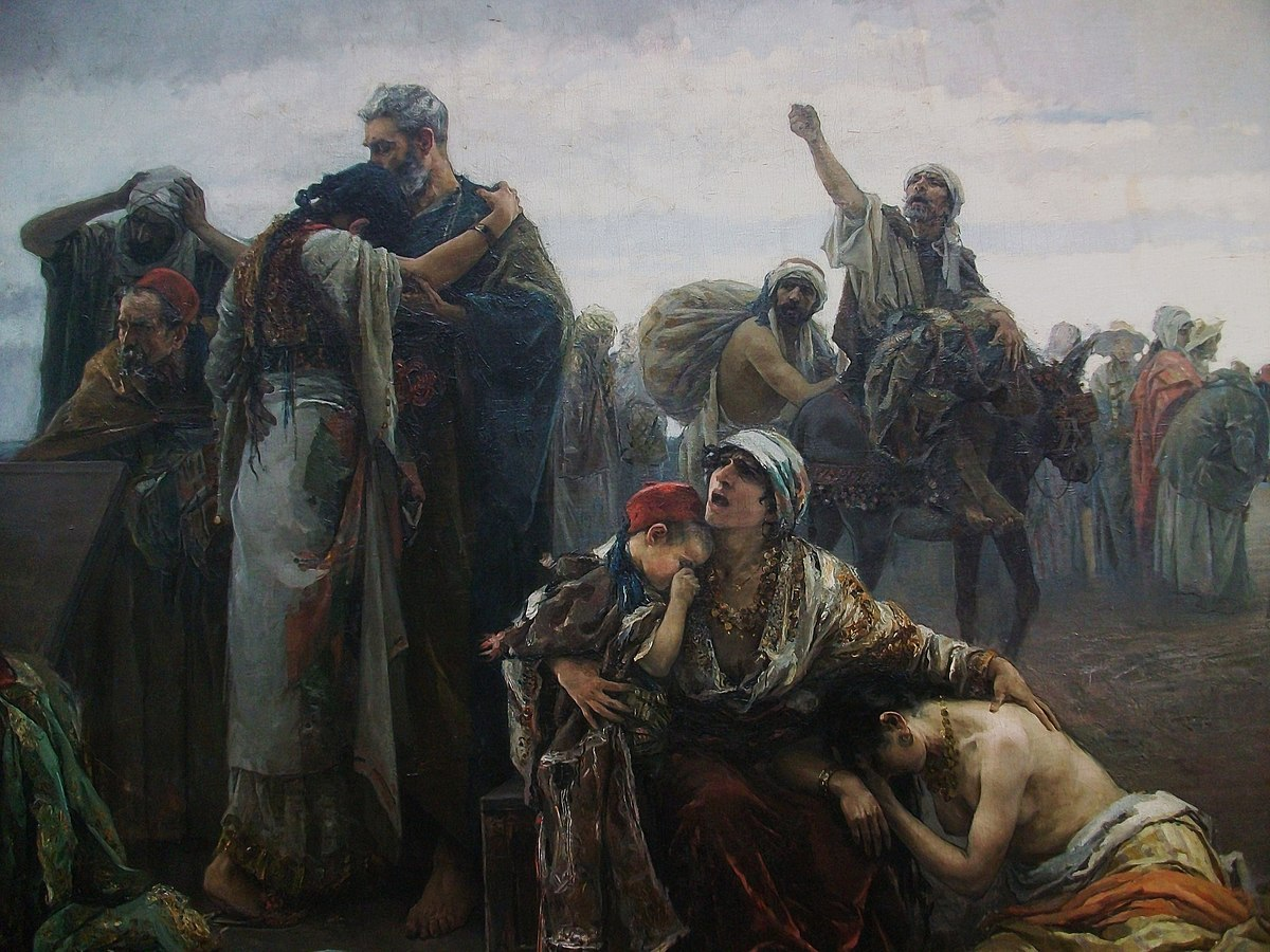 L'expulsió dels moriscos (1894), Gabriel Puig Roda, Museu de Belles Arts de Castelló (detall).JPG