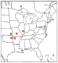 L81 Map 9 Crataegus coccinioides.png
