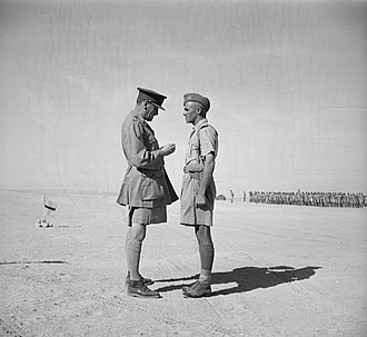 Howard Kippenberger - In Egypt on 4 November 1941, General Auchinleck presented Kippenberger with the Distinguished Service Order (DSO) for his leadership during the Battle of Crete