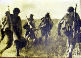 Battle of Lenino - Troops of the Polish 1st Tadeusz Kościuszko Infantry Division at the Battle of Lenino.