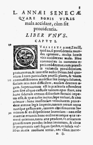 De Providentia - From the 1594 edition, published by Jean Le Preux