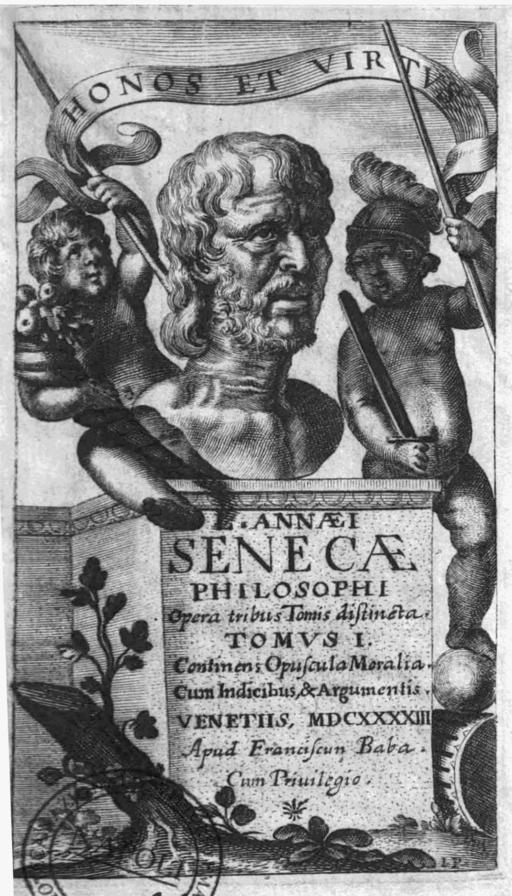 L Annaei Senecae philosophi 1643 frontispiece