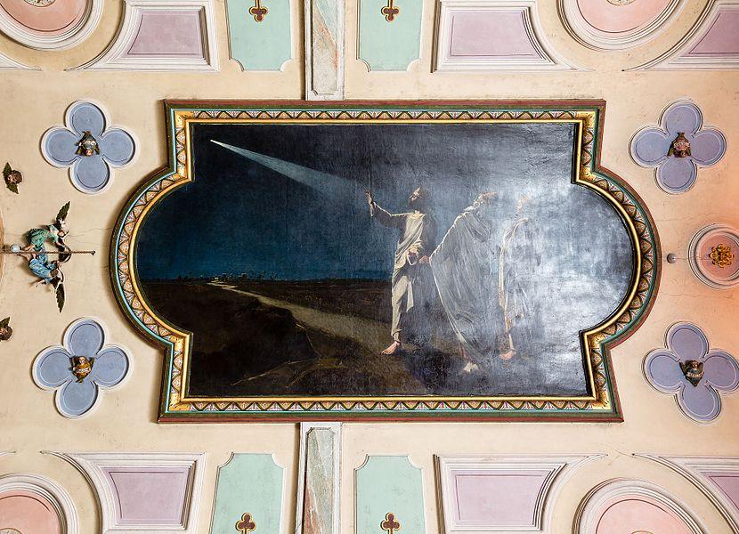 Français:  La Marche des Rois Mages par Guillaume Fouace, au plafond de de l'église Notre-Dame de Montfarville (France).