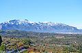 La serra de Mariola vista des de Benialfaquí.JPG