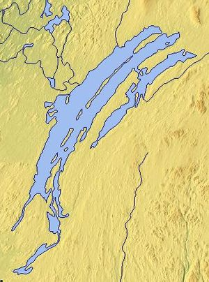 Lake Mistassini - Map of Lake Mistassini