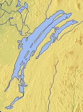 Lake Mistassini - Map of Lake Mistassini