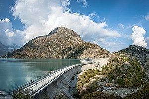 2016 Tour de France - Stage seventeen concluded with a summit finish at the Émosson Dam in the Swiss Alps.