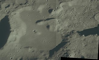 Lacus Oblivionis - Mosaic from two Apollo 17 images, facing southeast