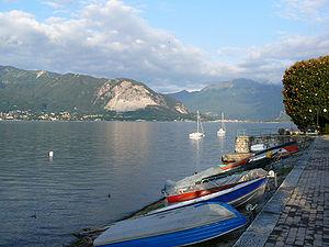 Lago Maggiore as seen from Verbania, Italy. La...