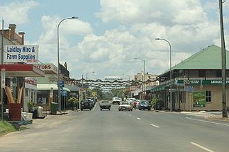 Lockyer Valley Region - The main street of Laidley, 2011