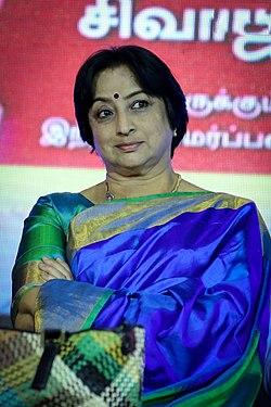 Lakshmi at Naan Suvasikkum Sivaji Book Launch.jpg